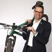 Michael Beckmann mit seinem Mountainbike