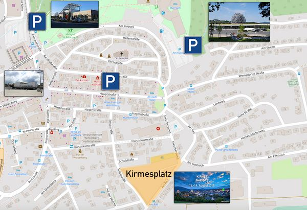 Stadtplan zum Parken