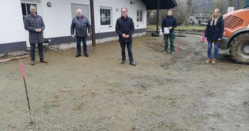 Besichtigung Baustelle Umgestaltung Freizeitanlage Saure Wiese Grönebach