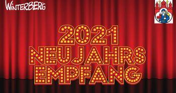 Plakat virtueller Neujahrsempfang