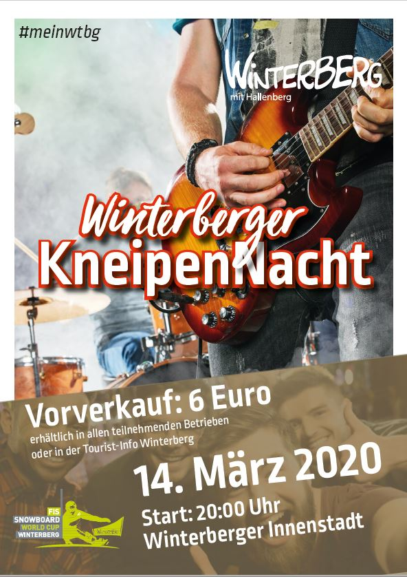 Flyer zur WInterberger Kneipennacht am 14.03.2020